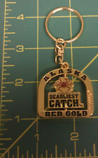 Alaska Deadliest Catch Red Gold Spinner Keychain New Unused - ships worldwide