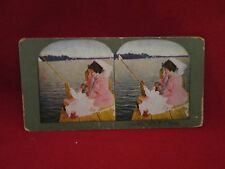 Stereoscopic Views No. 5 Just the Way Dad Does 1899 by T.W. Ingersoll