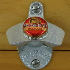 Moosehead Red BOTTLE CAP Pale Ale Starr X Wall Mount Bottle Opener Canadian NEW!