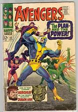 AVENGERS 42 3.5 4.0 VG GD HAWKEYE CAP QUICKSILVER SCARLET WITCH NICE PAGES AC