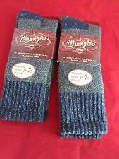 2 Pair Wrangler 20% Merino Wool Heavy Weight  Boot Sock Large 10-13 USA