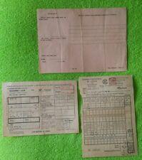 Turkey Turkish Revenue Printed 1950's Railroad Documents