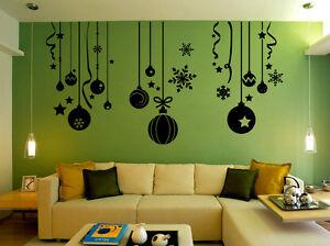 Christmas Decor Ball Shop Window / Stickers Wall Decal uk RUI02