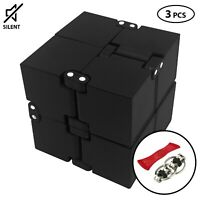 Infinity Cube Desk Toy  Stress Relief Cubes comes in gift pack+2free fidget toys