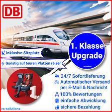 Deutsche Bahn DB 1. Klasse Upgrade Gutschein ECOUPON 24/7 VERSAND Sitzplatz