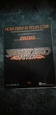 Bee Gees Song Sheet Music How Deep Is Your Love Barry Gibb Robin 1977