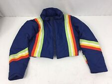 Womens Vintage Mountain Products Down Blue Striped Ski-Winter Jacket Sz Large