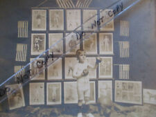 Cabinet Card Photo Youth Boy Boxing - Backdrop Other Sports McGregor, IA
