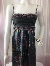 STUNNING! M Missoni Dress 100% Silk Size 4 Tube W/ Spaghetti Straps Fringe Dots