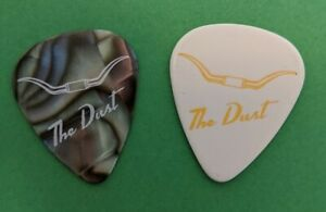 ZZ Top Dusty Hill set of two guitar picks. White & Mother of Pearl colored.