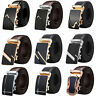 Mens Metal Automatic Buckle For Leather Ratchet Belt Waist Strap Belts Waistband