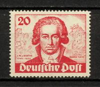 (YYAT 0408) Berlin 1949 MNH Mich 62 Scott 9N62 Goethe Germany slightly bent