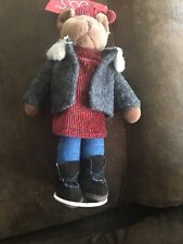 """Russ Berrie Old World Teddies #4812 Avery, 7"""" w/ Stand, New From Retail Store"""