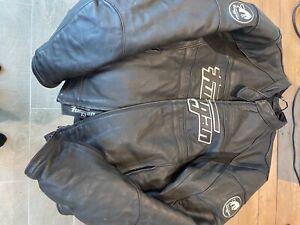 furygan leather motorcycle jacket