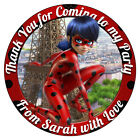Personalised Miraculous Ladybug Cat Noir Stickers Birthday Party Thank You Cones
