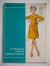 La LUTTERLOH d'or Coupe 1972 SUPPLEMENT 130 SEWING PATTERNS vintage rare