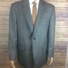CHAPS Blazer Men's 42 Long Gray 2 Button 100% Wool
