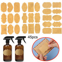Tags Cake Decoration Blank Sticky Labels Stickers Packaging Seals Kraft Paper