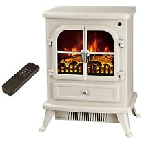 Galleon Fires AGENA Electric Stove with Remote Control - Electric Fire - Cream