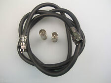 1m digital coax  cable, F to F male with coax adaptors