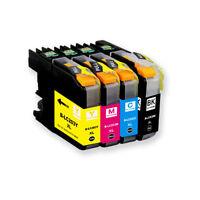 4pk LC-201 Ink Set Compatible For Brother Printer MFC-J460DW MFC-J480DW J485DW