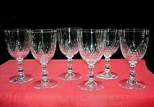BACCARAT JEU D'ORGUE ECAILLE 6 WINE GLASSES 6 VERRES A VIN CRISTAL TAILLÉ 5777 A