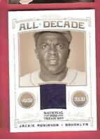 JACKIE ROBINSON GAME USED JERSEY CARD #d 23/99 2012 NATIONAL TREASURES Dodgers