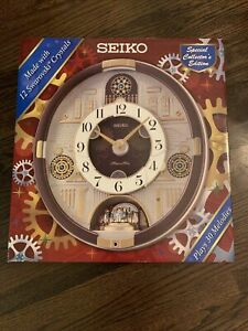 Seiko QXM377BRH Melodies In Motion Wall Clock New In The box
