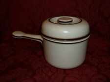 THOMAS COOKWARE OF GERMANY COVERED SAUCEPAN WITH DARK BROWN TRIM