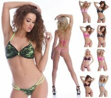 Geblümte Damen-Bikini-Sets mit Tanga im