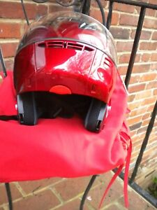 HELMENT MOTORCYCLE HAWK XL DOT H-1001, RED FULL FACE PULL UP FACE SHIELD