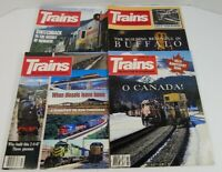 Trains The Magazine Of Railroading Lot Of 4 1985