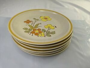 Hearthside Garden Festival Stoneware Salad Plate Japan Set of 6