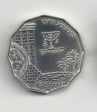 Israel 1987 Holy Land Sites Jericho Bu Coin 1/2nis 7.2g Silver