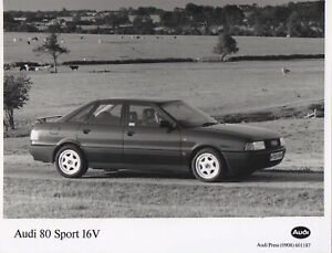 Audi 80 Sport 16V (B3) Large Format Period Press Photograph - 1990
