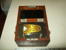 Beautiful Antique Boxed Queen & Co. Makers Scientific Instrument From 1912-1925