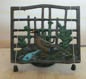Book Stand, Bookstand Made From Cast Iron, Coloured, Mint