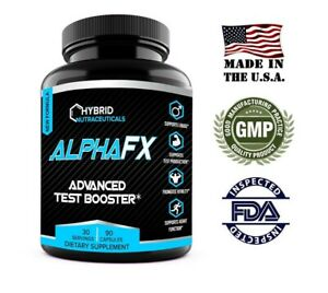 AlphaFX Testosterone Booster, Estrogen Blocker, Horny Goat Weed, Tribulus