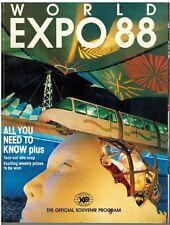 WORLD EXPO 88 Souvenir BOOK  Official Program Australia Brisbane Southbank Qld