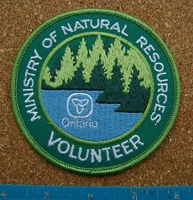 ONTARIO MNR VOLUNTEER PATCH,BADGE,Ministry of Natural Resources, bigger size