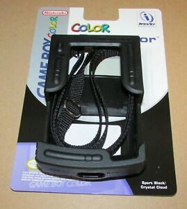 Game Boy Color Rugged Rubber Protector with Carrying Strap Black Fast Shipping