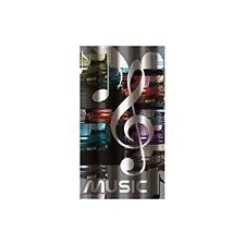 Msv 140812 Rideau de douche Polyester Plastique Polypropylène Musique