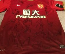 2010 Chinese Football Authenitc Nike Jersey Team Signed Guangzhou Evergrande XL