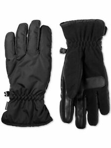 Isotoner Mens Black Slip On Thermaflex Lined Touchscreen Compatible Winter Cold