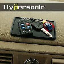 Hypersonic Black Silicone Dashboard Non Slip Mat Pad Coin Key Organizer Holder