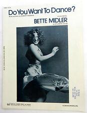 BETTE MIDLER Sheet Music DO YOU WANT TO DANCE? Charles Hansen Music 70's POP