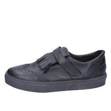 scarpe uomo 2 STAR 44 EU sneakers nero pelle BX376-44