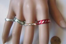 Lote 4 anillos aluminio colores nº 9 ó 18 mm diámetro medio bisutería r-38