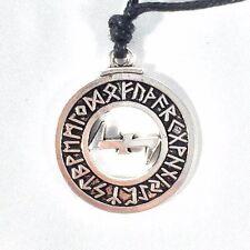 Pewter Wolfsangel Elder Futhark Rune Pendant Norse Asatru Wolf Necklace Jewelry