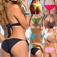 Sexy Women Brazilian Cheeky Bikini Tie Bottoms Thong Beach Swimsuit Swimwear US